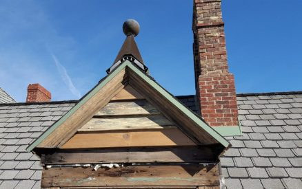 3rd floor dormer at The Oliver Inn - before repair