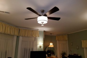 New Ceiling fan in The Knute Rockne room