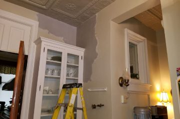 Plaster Repair in the Butler's Pantry