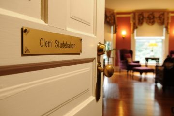 Clem Studebaker Room door sign