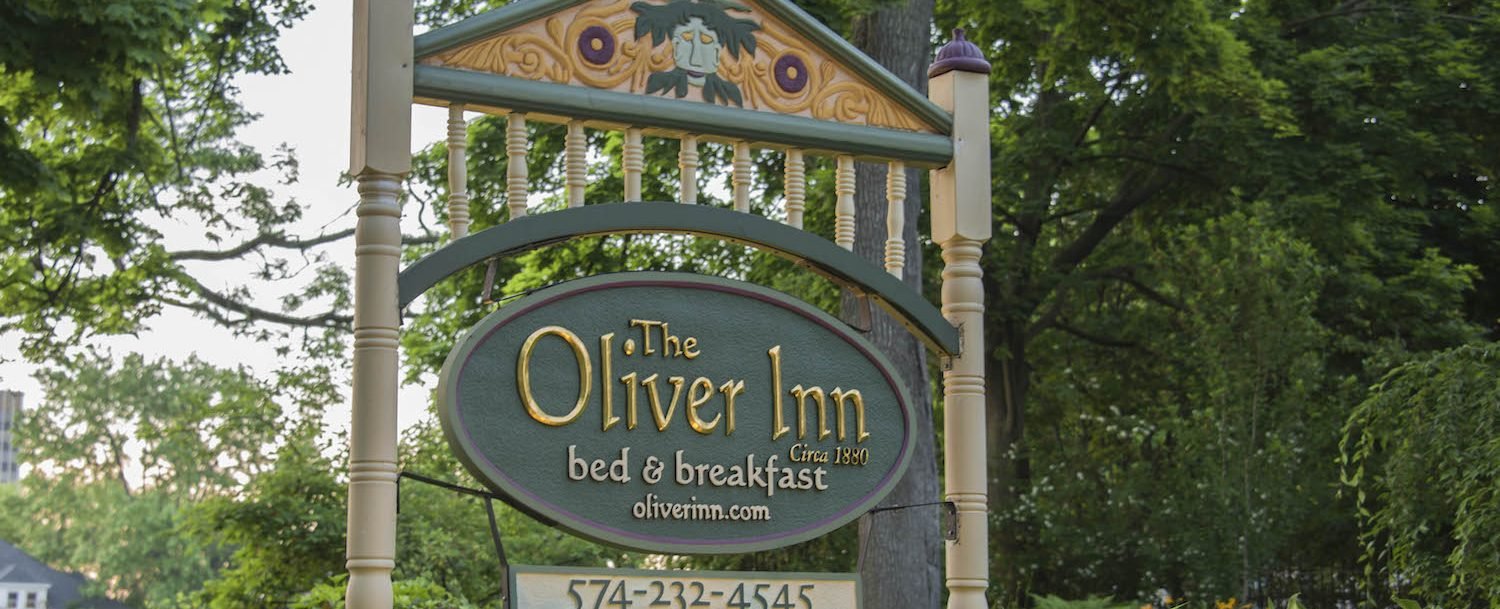 Signage in front of The Oliver Inn.